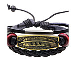 Men's Leather Bracelet Vintage Rock Leather Alloy Feather Jewelry For Daily Going out