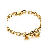 Men's Women's Chain Bracelet Punk Rock Titanium Steel Circle Jewelry For Party Gift