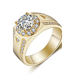 Men's Band Rings Rhinestone Fashion Elegant Rhinestone Titanium Steel Circle Jewelry For Wedding Party