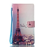 For Case Cover Card Holder Wallet with Stand Flip Magnetic Pattern Full Body Case Eiffel Tower Hard PU Leather for Sony Sony Xperia L1