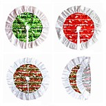 cheap -One-piece Suit Christmas Decorations Christmas Tree SkirtsForHoliday Decorations 60*60