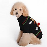 Dog Sweater Dog Clothes Christmas Reindeer Red Black