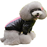 Dog Hoodie Dog Clothes Cotton Spring/Fall Winter Casual/Daily Letter & Number Yellow Fuchsia For Pets