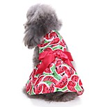 Cat Dog Coat Tuxedo Dress Dog Clothes Party Casual/Daily Wedding Christmas New Year's Fruit Red