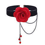 Women's Choker Necklaces Flower Jewelry Alloy Floral Sweet Elegant Jewelry For Daily Casual