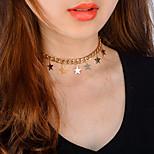 Women's Choker Necklaces Jewelry Star Alloy Tassel Metallic Punk Jewelry For Party Gift Date Street