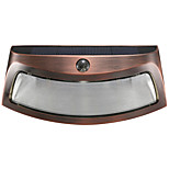 1PCS Solar Power Phototonus Light Waterproof Outdoor Smiling Wall Lights Wirecurity Step Night Lamps for Stair Garden Doorway-Copper