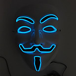 Flashing Cosplay LED Full Face Masks Classic V Masks for Halloween Party Dance Bar