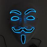 мигающий косплей вел маска для лица классический v маски для танцевального бара Хэллоуин