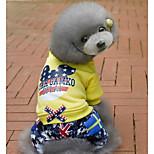 Собака Комбинезоны Одежда для собак На каждый день Звезды Желтый Красный
