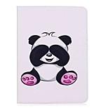 держатель карточки держателя карточки panda с подставкой сальто магнитный pu кожаный случай для samsung galaxy tab s3 wifi / lte t820 t825