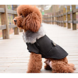 Dog Vest Dog Clothes Casual/Daily Solid Gray Black