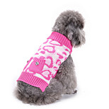 Dog Sweater Dog Clothes Casual/Daily Hearts Blushing Pink