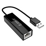 ORICO USB 2.0 Адаптер, USB 2.0 to USB 3.0 RJ45 Адаптер Male - Female 0.1m (0.3Ft)