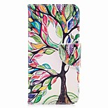 Case For V30 Q6 Card Holder Wallet with Stand Flip Magnetic Pattern Full Body Tree Hard PU Leather for LG Q6 LG V30