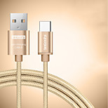 BEILESHI USB 2.0 Connect Cable USB 2.0 to USB 2.0 Type C Connect Cable Male - Male 0.25m(0.8Ft) Two Pieces