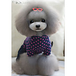 Dog Clothes/Jumpsuit Dog Clothes Casual/Daily Tiaras & Crowns Dark Blue Fuchsia
