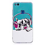 Case For P8 Lite (2017) P10 Lite Glow in the Dark IMD Pattern Back Cover Dog Soft TPU for Huawei P10 Lite Huawei P9 Lite Huawei P8 Lite
