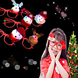 cheap -1Pcs Led Flashing Glasses Frame Kids Children Glowing Glasses Eyewear Xmas Party Supplies Design Is Random