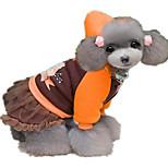 Собака Платья Одежда для собак На каждый день Принцесса Кофейный