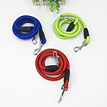 Dog Leash Portable Solid Nylon Red Green Blue