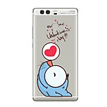 Case For Huawei P9 P10 Transparent Pattern Back Cover Word / Phrase Transparent Cartoon Soft TPU for Huawei P10 Plus Huawei P10 Lite