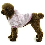 Dog Coat Dog Clothes Casual/Daily Solid Orange Gray Pink Costume For Pets