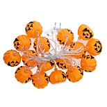 1set Halloween Pumpkin String Led Light Bar16 Lamp Holder 2.5M  white Colorful  EU Plug AC220V