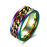 Men's Band Rings Rock Hiphop Stainless Steel Round Jewelry For Party Club