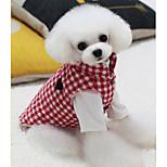 Собака Жилет Одежда для собак На каждый день В клетку Черный Красный