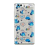 For Case Cover Transparent Pattern Back Cover Case Cat Transparent Cartoon Soft TPU for Huawei Huawei P10 Plus Huawei P10 Lite Huawei P10