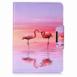 Flamingo Pattern Card Holder Wallet with Stand Flip Magnetic PU Leather Case for Samsung GALAXY Tab A 9.7 T550 T555 9.7 inch Tablet PC