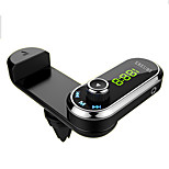 F1 Bluetooth Car FM transmitter handsfree car kit air vent phone holder MP3 player with AUX audio receiver for iPhone
