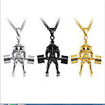 Men's Pendant Necklaces Lariat Y Necklaces Titanium Steel Metallic Sports Jewelry For Casual Holiday