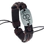 Муж. Жен. Кожаные браслеты Кожа Геометрической формы Бижутерия Назначение Для вечеринок Повседневные