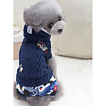 Dog Clothes/Jumpsuit Dog Clothes Casual/Daily Geometic Green Dark Blue