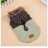 Dog Coats Dog Clothes Warm Casual/Daily Geometic Green Costume For Pets