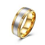 Муж. Классические кольца Бижутерия Базовый дизайн Мода Титановая сталь Круглый Бижутерия Назначение Для вечеринок Обручение Повседневные