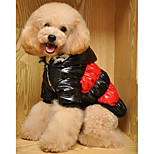 Dog Coat Dog Clothes Casual/Daily Stripe Red Blue Costume For Pets