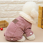 Cat Dog Dog Clothes Casual/Daily Solid Coffee Red Costume For Pets