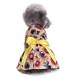 Cat Dog Tuxedo Dress Dog Clothes Party Casual/Daily Wedding Christmas New Year's Floral/Botanical Yellow
