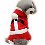 Dog Clothes/Jumpsuit Dog Clothes Christmas New Year's British Red