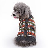 Dog Sweater Dog Clothes Casual/Daily British Red Costume For Pets