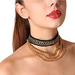 Women's Choker Necklaces Chain Necklaces Lace Alloy Metallic Sexy Jewelry For Party Formal