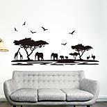 Животные Мода Наклейки Простые наклейки Декоративные наклейки на стены материал Украшение дома Наклейка на стену