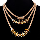 Women's Choker Necklaces Circle Alloy Metallic Sexy Jewelry For Party Evening Party