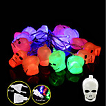 1set Halloween Ghost Head Lamps String Led Light Bar16 Lamp Holder 3M Colorful Eu Plug 220-240V