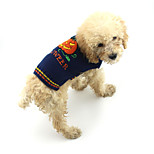 Dog 1 Connector Sweater Dog Clothes Christmas Pumpkin Blue Costume For Pets