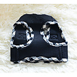 Dog Harness Portable Solid Fabric Black