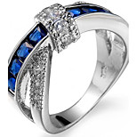 Муж. Жен. Кольцо на кончик пальца Обручальное кольцо Цирконий Циркон Медь В форме квадрата Геометрической формы Бижутерия Назначение